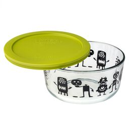 Simply Store® 4 Cup Monsters & Pumpkin Storage Dish w/ Green Lid