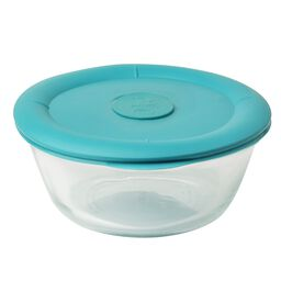 Pro 3.67 Cup Oval Storage Dish w/ Turquoise Vented Lid