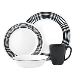 Boutique™ Brushed 16-pc Dinnerware Set, Black