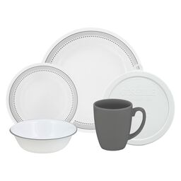 Livingware™ Mystic Gray 20-pc Dinnerware Set w/ Lids