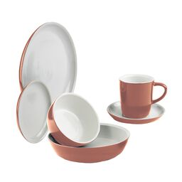 6-pc Red Clay Dinnerware Set