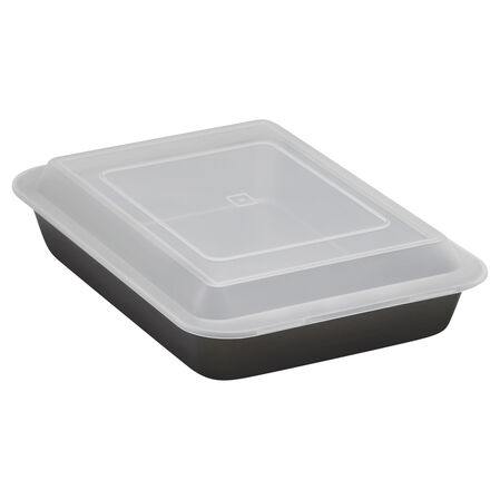 "Essentials Cook 'N Carry 9"" X 13"" Cake Pan"