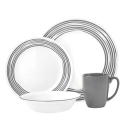 Boutique™ Brushed 16-pc Dinnerware Set, Silver