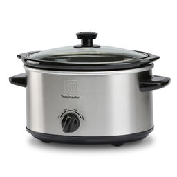 5-Quart Oval Slow Cooker w/ Removable Stoneware Bowl