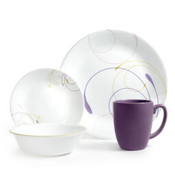 Livingware™ Violet Dance 16-pc Dinnerware Set