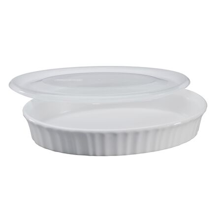 French White® 27-oz Oval Baker w/ Lid