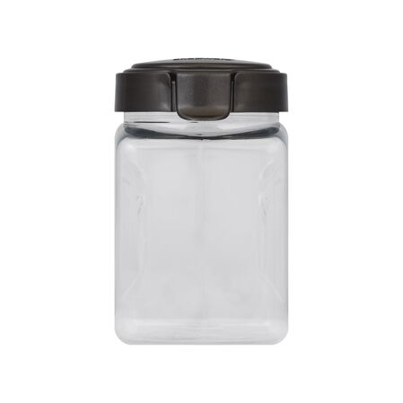 Airtight Food Storage 11.1 Cup Square Plastic Canister w/ Warm Metallic Lid