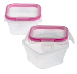 Total Solution™ Plastic Food Storage 2 pack, Square