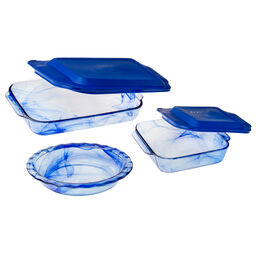 Watercolor Collection™ Blue Lagoon 5-pc Bakeware Set