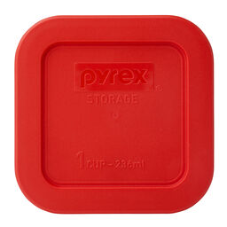 1 Cup Square Storage Plastic Lid, Red