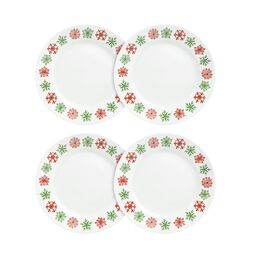 "Impressions™ Cheerful Flurry 4-pc 8.5"" Plate Set"