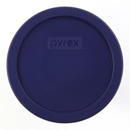 3 Cup Round Plastic Lid, Blue