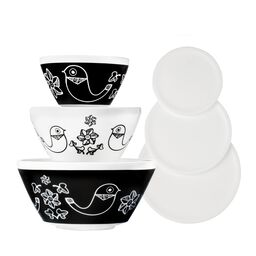 Birds of a Feather 6-pc Mixing Bowl Set, inspired by Pyrex®