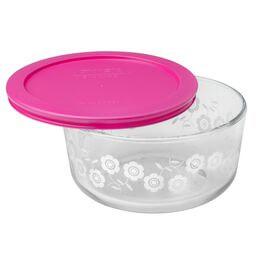 Simply Store® 4 Cup Pink Flowers Storage Dish w/ Lid