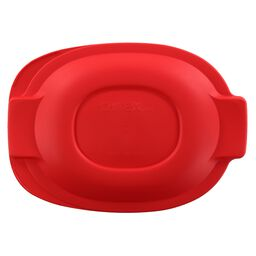2.5-qt Oval Roaster Plastic Lid, Red