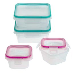 Total Solution™ Plastic Food Storage 8-pc Square Set