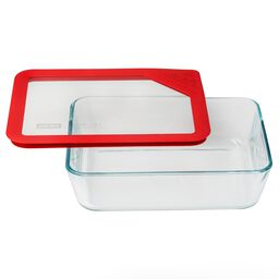 Ultimate 6 Cup Rectangle Storage Dish, Red