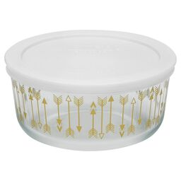 Simply Store® 4 Cup Love Shower Gold Storage Dish w/ White Lid