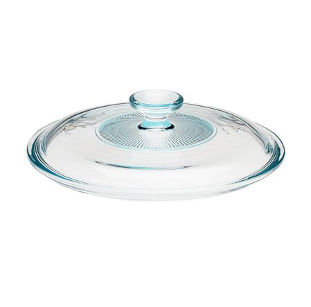 French White® 2.5-qt Fluted Round Glass Lid