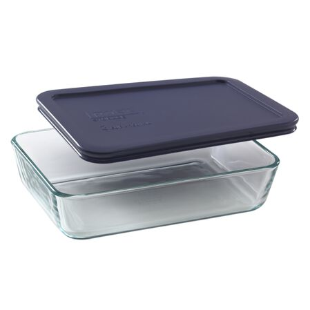 Simply Store® 3 Cup Rectangular Dish w/ Blue Lid