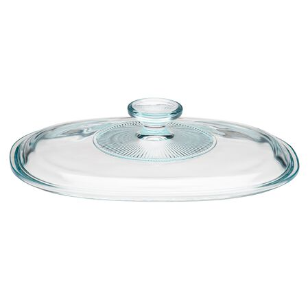 French White® 1.5-qt Oval Glass Lid