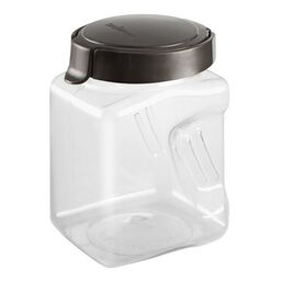 Airtight Food Storage 4.4 Cup Square Plastic Canister w/ Warm Metallic Lid