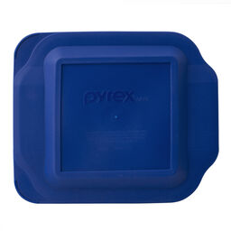 "Watercolor Collection™ 8"" Square Baking Dish, Blue Plastic Cover"