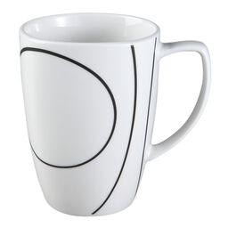 Square™ Simple Lines 12-oz Porcelain Mug
