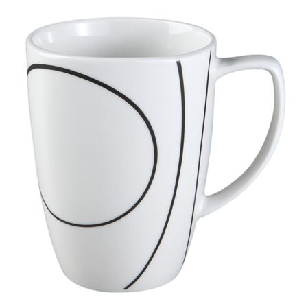 Square™ Simple Lines 12-oz Porcelain Mug