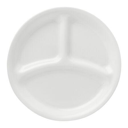 """Livingware™ Winter Frost White 8.5"""" Divided Plate"""