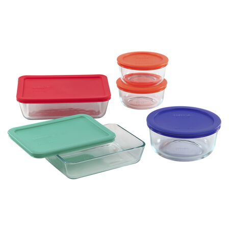 Simply Store® 10-pc Set w/ Multi-Colored Lids