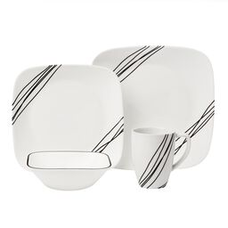 Square™ Simple Sketch 16-Pc Dinnerware Set