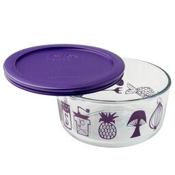 Simply Store® 4 Cup Modern Kitchen Storage Dish w/ Purple Lid
